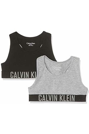 Calvin Klein Girl's 2 Pack Bralette Bustier, Heather/1 029