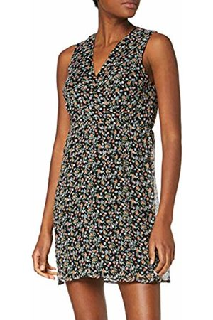 Vero Moda Women's Vmfay Sl V-Neck Short Dress WVN ( AOP: Viola-(Small Flowers)