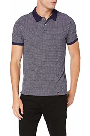 Tommy Hilfiger Men's Micro Triangle Print Slim Polo Shirt, (Maritime 431)