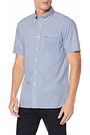 Tommy Hilfiger Men's Classic Stripe Shirt S/s Sweatshirt, Quartz/Bright WHITE903