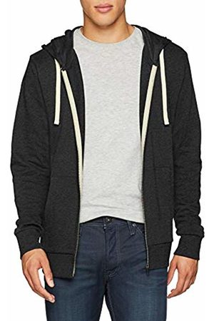 Jack & Jones Men's Jjeholmen Sweat Zip Hood Noos Jacket, (Dark Fit:Reg Fit-Melange)