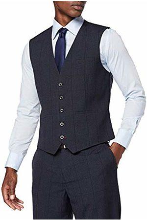 Burton Men's Jaspe Check Tailored Fit Waistcoat (Navy 100)