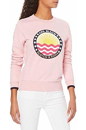 Scotch&Soda Maison Women's Basic Crew Neck Sweat with Seasonal Prints Sweatshirt