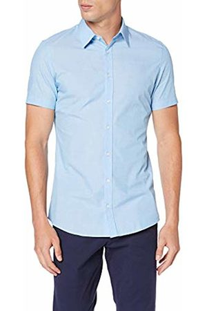 s.Oliver Men's 30.906.22.2230 Formal Shirt, Sky / Dobby 51k2