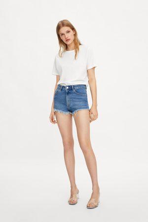 1d49627e4 Hi-rise denim shorts