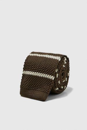 Zara Striped knit tie