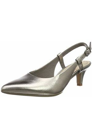 Clarks Women's Linvale Loop Sling Back Pumps, Pewter