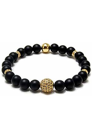 Von Lukacs Men Onyx Stretch Bracelet OSLGBO8L