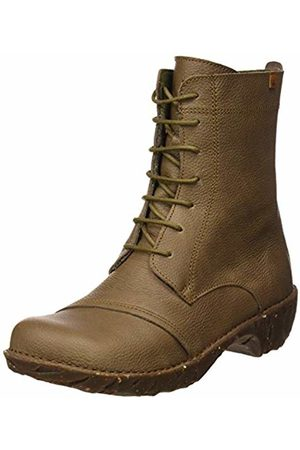 El Naturalista Women's Ng57 Soft Grain Plume/Yggdrasil Ankle Boots