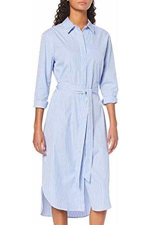 Tommy Hilfiger Women's Th Essential Midi Shirt Dress Ls (Soft We STP Yd/Ultramarine 492)