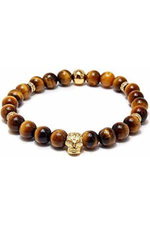 Von Lukacs Men Tiger's Eye Stretch Bracelet EMGTE8L