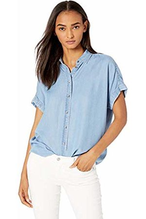 Daily Ritual Tencel Relaxed-fit Short-Sleeve Shirt Button
