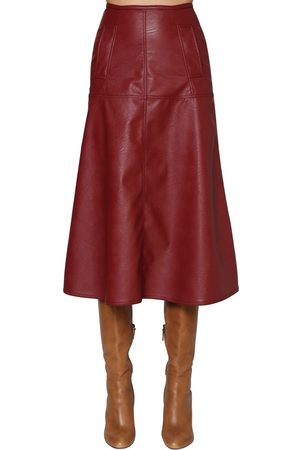 JOHANNA ORTIZ Faux Leather Midi Skirt