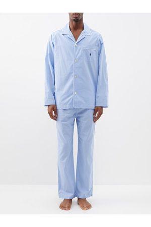 Polo Ralph Lauren Men Pyjamas - Logo Embroidered Gingham Cotton Pyjamas - Mens