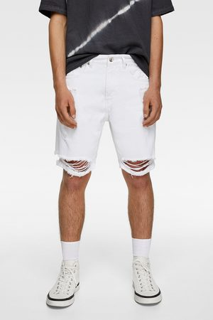 Zara Ripped bermuda shorts