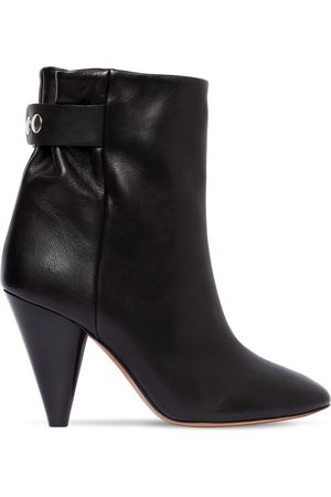 Isabel Marant 90mm Lystal Leather Ankle Boots