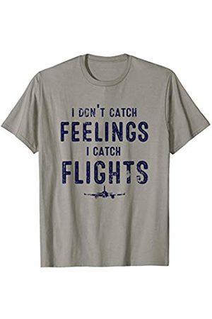 J. Berg Holiday & Seasonal Women T-shirts - I Don't Catch Feelings Flights Wanderlust Gifts Traveller T-Shirt