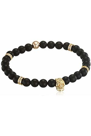 Von Lukacs Men Bracelets - Men Onyx Stretch Bracelet EMGBO6M
