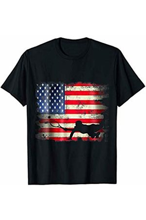 Patriotic Funny Novelty Co. Tennis Player USA American Flag 4th of July Racket Sports T-Shirt