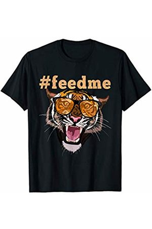 Funny Wild Animal Tees Funny Tiger With Sunglasses T-Shirt
