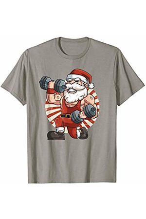 Flexin Workout Outfits Co. Santa Clause Weightlifting Gym Fitness Training Christmas T-Shirt