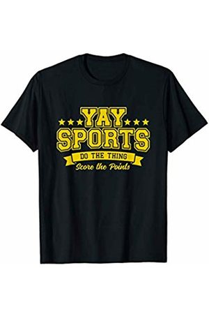 Yay Sports Shirt Sarcastic Tees Yay Sports Do the Thing Win the Points Yellow T-Shirt