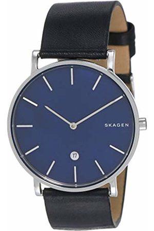 Skagen Mens Analogue Quartz Watch with Leather Strap SKW6471