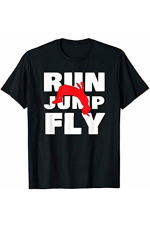 City Metropolis Obstacle Overcome Freerunner Gift Funny Run Jump Fly Parkour Freerunning Runner Urban Sports T-Shirt