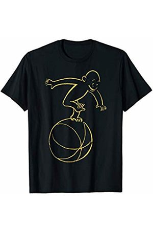 Curious George T-shirts - Running On A Ball Yellow Sketch T-Shirt