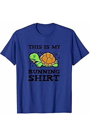 Funny Running Shirts This is My Running TShirt Turtle Exercise Marathon Gift Tee T-Shirt