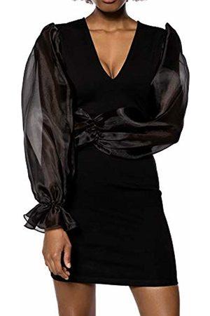 Ivy Revel DE Women Casual Dresses - Women's Organza Sleeve Jersey Dress Party ( 001)