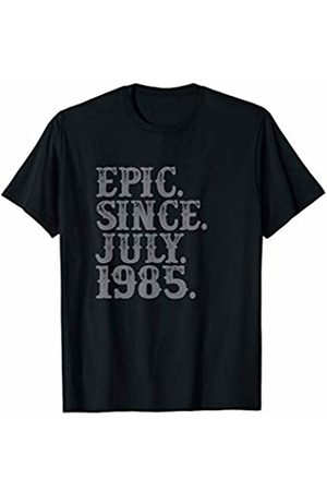 Grunge Cancer Leo Birthday Party Tees Legend Epic Since July 1985 Birth Year Legendary Star Gifts T-Shirt