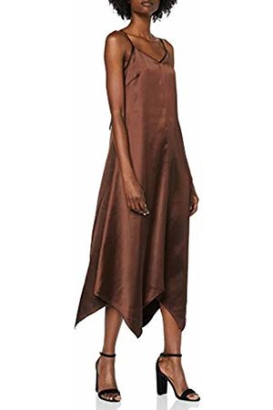 warehouse Women's Satin Hanky Hem Cami Party Dress