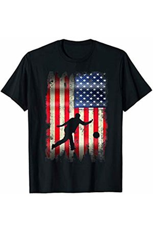 Patriotic Funny Novelty Co. Bowling Bowler USA American Flag 4th of July Patriotic Sport T-Shirt