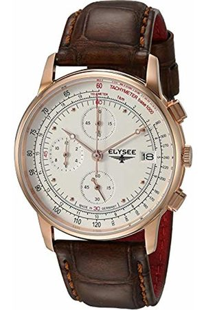 ELYSEE Unisex Adult Analogue Quartz Watch with Leather Strap 11013