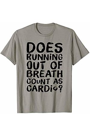 Fitness Bestseller Tees Does Running Out Of Breath Count As Cardio Funny T-Shirt
