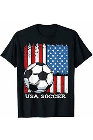 Best Soccer Football Gifts Tee USA Flag Soccer Team United States Funny Football Team Sport T-Shirt