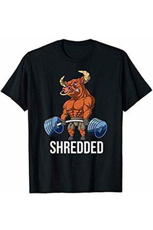 Weight & Deadlifting Apparel Co Shredded OX Lifting Weightlifting Deadlift Fitness Gym T-Shirt