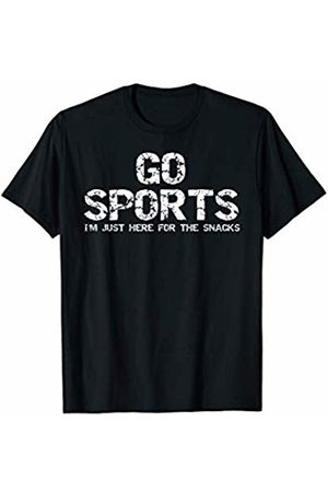 It's Football Time Y'all Design Studio Funny Game Day Gear Go Sports I'm Just Here for the Snacks T-Shirt