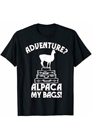 Funny Traveler Pun Shirt Funny Traveler Pun Adventure Alpaca my Bag Traveling Gift T-Shirt