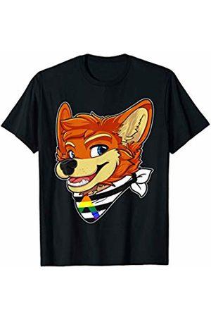 Fursuit Head LGBT Apparel 40 - Crush Retro Straight Ally Fursona Furry Fox Gay Rights Pride Week T-Shirt