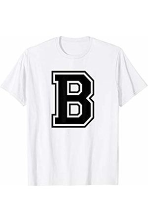 Capital Letter Sport Alphabet Letter B Black Capital Name Initial School Sport Team T-Shirt