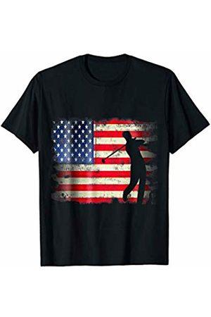 Patriotic Funny Novelty Co. Men T-shirts - Golf USA American Flag 4th of July Patriotic Golfer Sports T-Shirt