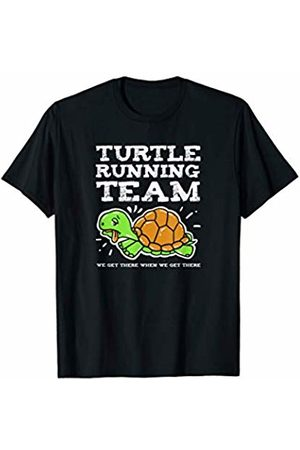Funny Running Shirts Turtle Running Team Marathon TShirt Exercise Running Gift T-Shirt