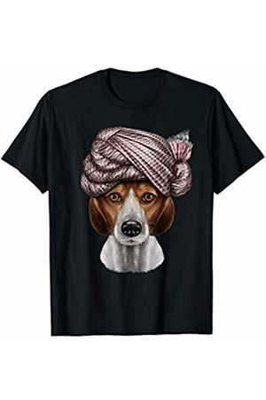 Fox Republic T-Shirts Beagle Dog Wearing Turban T-Shirt