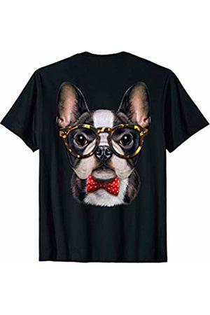 Fox Republic T-Shirts Cute French Bulldog in Classic Eyeglass and Bow Tie T-Shirt