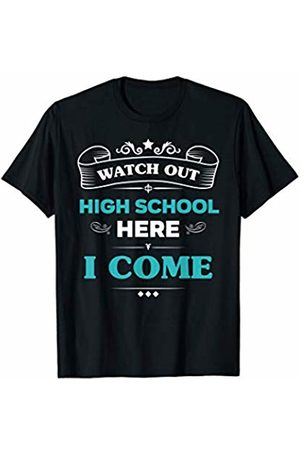 VI59 Family Shirts Watch Out High School Here I Come First Day School Cute Tee
