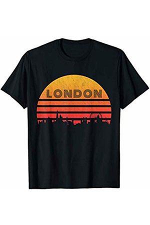 Classic Vintage Retro T-Shirts Vintage Retro Sunset London England T-Shirt