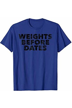 BullQuack Fitness Weights Before Dates - Funny Fitness Workout Lifting Gym T-Shirt
