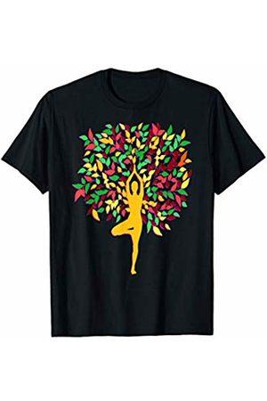 Buy Cool Shirts Fall Foliage Yoga Pose T-Shirt